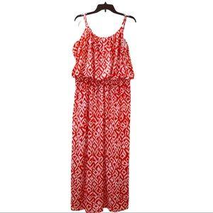 Magic Spaghetti Strap Printed Long Maxi Dress